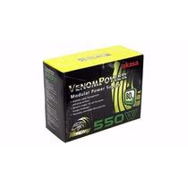 Fonte Real 550w Modular Akasa 80% Eficiência Ak-pa055am01