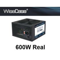 Fonte Wisecase 600w Reais Ultra Silenciosa E Alta Eficiência