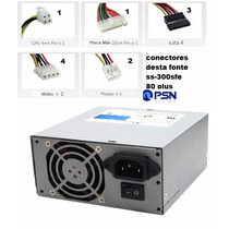 10x Fonte Alimentacao 300w Real Mini Ss-300sfe Seasonic Biv