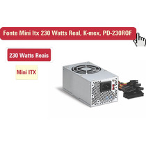 Fonte Mini Itx 230 Watts Real, K-mex, Pd-230rof