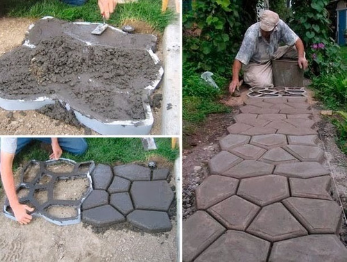 Forma para piso jardim para concreto easy piso alum nio r 175 00 no mercadolivre - Piedras para jardin baratas ...