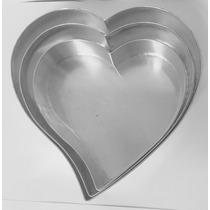 Jogo De Forma Coração Com 3 Peças