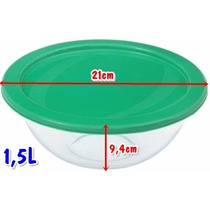 Tigela Astral Vidro Com Tampa 1,5l 21x9,4cm Nadir Marinex
