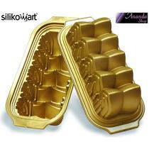 Forma Silicone Silikomart Catedral Retângulo Bolo Doce Molde