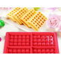 Forma D Silicone Antiaderente P Waffle Panqueca Ou Chocolate
