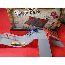 Pista Sbego Park Com Skate Dedo Com Mini Bicicleta Dedo