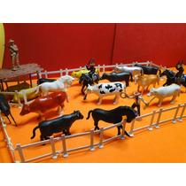 Fazenda Velho Oeste Cercado Boi Vaca Porco Cavalo Cowboy