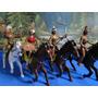 Conjunto De 04 Indios À Cavalo Na Escala 1/18 Homens = 10 Cm