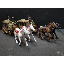 02 Diligencias Com Cavalos E Cowboys Forte Apache