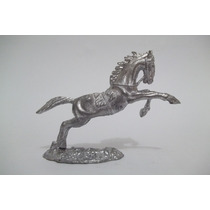 Cavalo C/ Base Em Chumbo Forte Apache Cowboy #4