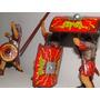 03 Gladiador Romano Elmo Centurião Lança Escudo Figura10cm