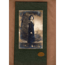 Linda Fotografia Antiga Joven De Preto (g165)