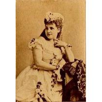 Carte De Visite-luisa Tetrazzini ? -cantora De Ópera-música