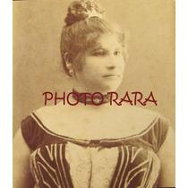 Cartão De Visita - Amélia Ataíde - Atriz -1891 Rj-fotógrafa