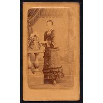 Foto Antiga - Carte De Visite - Moça - Pedro Da Silveira