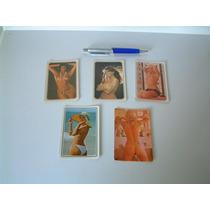 Cinco Antigos Calendários Mulheres Nuas - Folhinhas Lote 02