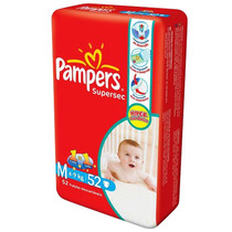 Fralda Pampers Supersec Hiper M 52 Unidades