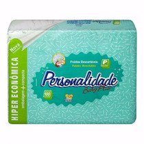 Fralda Personalidade Baby Plus Tamanho P Com 100 Unidades