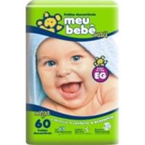 Fralda Descartáveis Meu Bebê Mais Tamanho: P 90 Unidades
