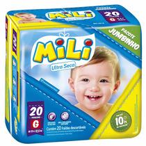 Fralda Mili Jumbinho G Com 20 Unidades
