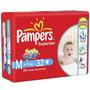 Fraldas Pampers Super Sec Xg 24 Unid (kit 10 Pacotes)
