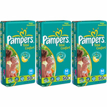 Fraldas Pampers Total Confort Pacote Especial M 150 Unidades