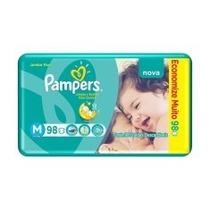 Fralda Pampers Total Confort M Com 98 Infantil Jumbo Pack