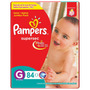 Fralda Pampers Supersec Jumbo G 84 Unidades