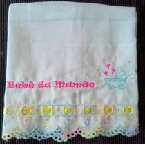 Fralda De Bebê Bordada (luxo)