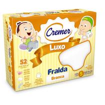 Fralda Cremer Luxo Branca - Produto Novo - Caixa C/ 5 Unid.
