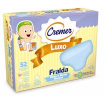 Fralda Pinte E Borde Cremer Luxo Azul Caixa C/ 5 Unid.