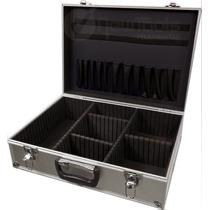 Maleta Aluminio Case Reforçada 45x32x15cm Divisórias Móveis