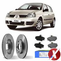Kit Disco + Pastilha Freio Diant Renault Clio Bd3550 + N-448