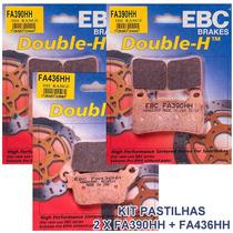 Kit Pastilhas Freio Ebc Fa390hh + Fa436hh Cbr1000rr Cbr600rr