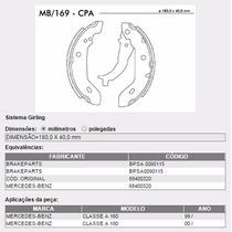 Sapata De Freio Traseira (lona) Mbb Classe A 160 E 190