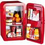 Frigobar 17 Litros Geladeira Vermelha Frescolino 110v