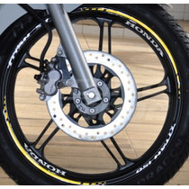Friso E Adesivo Interno Refletivo Roda Honda Titan 150 Mod01