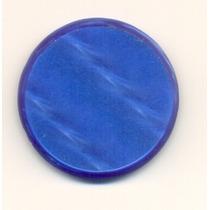 Botão Antigo Uma Camada Azul 3.5 Lindo Perolado Anos 70