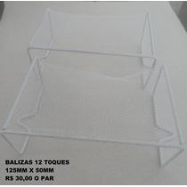 Balizas P/ 12 Toques - Trave -jogo De Botão -futebol De Mesa