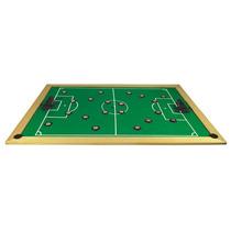 Jogo Futebol De Botão Em Madeira 30 Peças Plásticas 1620