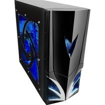 Gabinete Gamer Titan Fortrek Com 2 Cooler Led Azul