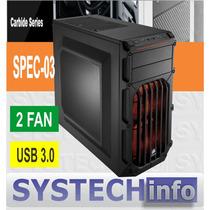 Gabinete Corsair Carbide Spec-03 Lat Acrilico Usb 3.0 2 Fan