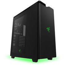 Gabinete Mid-tower H440 Razer Edition Preto/cinza Led Logo