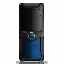 Gabinete Pc Atx 4 Baias Com Usb Frontal Azul E Fonte 200w