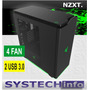 Gabinete Nzxt H440 Razer Edition 4 Fan Usb 3.0 Gamer Midi