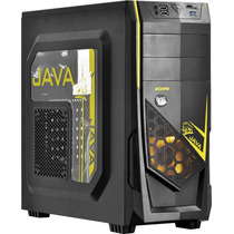 Gabinete Gamer Pcyes Java Yellow 2x Fan Usb3.0 Leitor Cartao