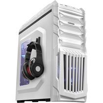 Gabinete Gamer Pcyes Tiger Led Branco Suporte P/ Headphone