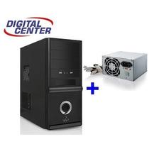 Gabinete Cpu Gamer Atx + Fonte 200w + Lateral 18cm Amd Intel