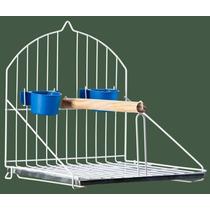 Poleiro Simples Para Passaros Branco Calopsita Papagaio Etc