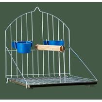 Puleiro Simples Para Passaros Prata - Calopsita Papagaio Etc